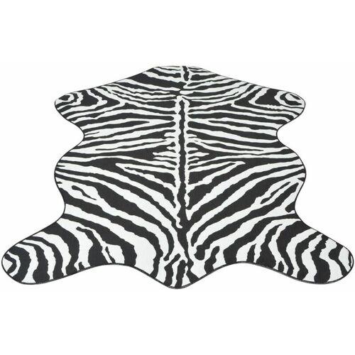 VIDAXL Teppich Fellimitat Zebra 110 x 150 cm