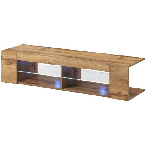 e-Com - TV-Lowboard Fernsehschrank Fernsehtisch NOVA + LED - 140 cm