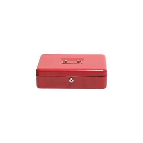 NEWPO Geldkassette   Rot   HxBxT 90 x 300 x 240 mm   newpo Kasse Kassette