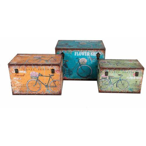 BURI Holztruhe Fahrraddesign Vintage Holzkiste Holztruhe Truhe Kiste