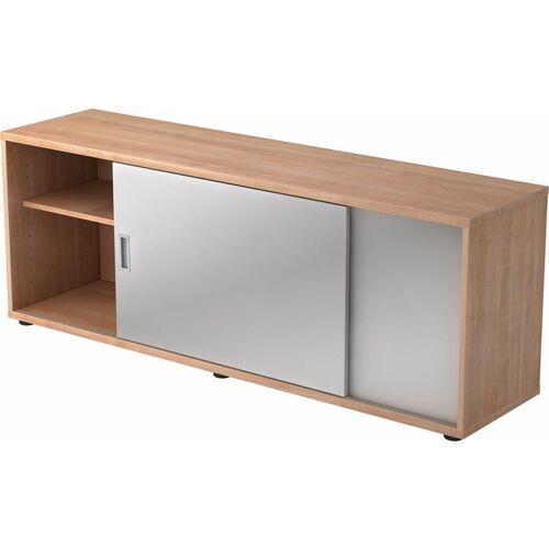B.M. bümö Lowboard Dekor: Nussbaum/Silber