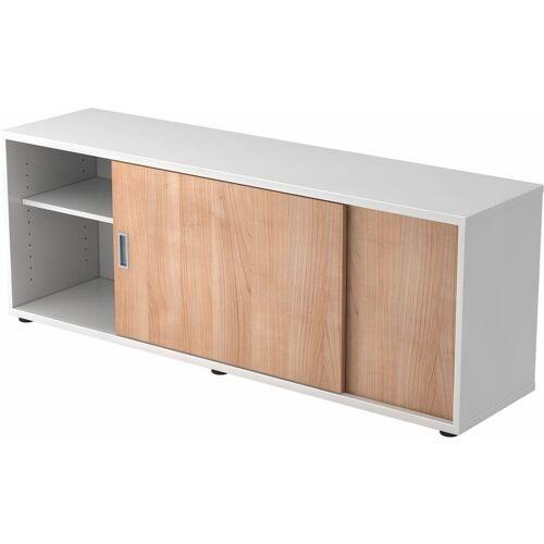 B.M. bümö Lowboard Dekor: Weiß/Nussbaum