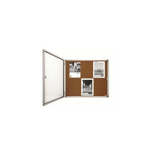 MAGNETOPLAN ® Schaukasten SP - Kork - Kapazität 9 x DIN A4 Alu-Schaukasten