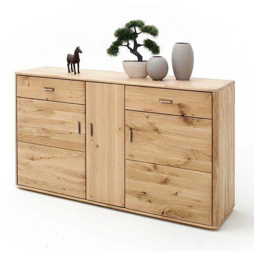 Lomadox - Sideboard ROSARIO-05 für Wohn- & Esszimmer, aus Balkeneiche
