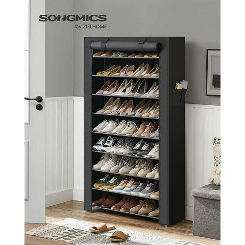 SONGMICS XXL 10 Schicht staubdichtes Schuhregal für ca. 45 paar Schuhe