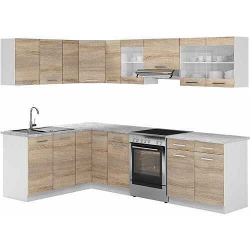VICCO Küche Rick Eck / Winkel Küchenzeile Küchenblock Einbauküche 270 cm