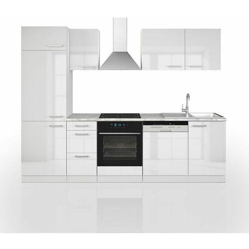 Vicco Küche 270 Cm Küchenzeile Küchenblock Einbauküche Komplett –Weiss