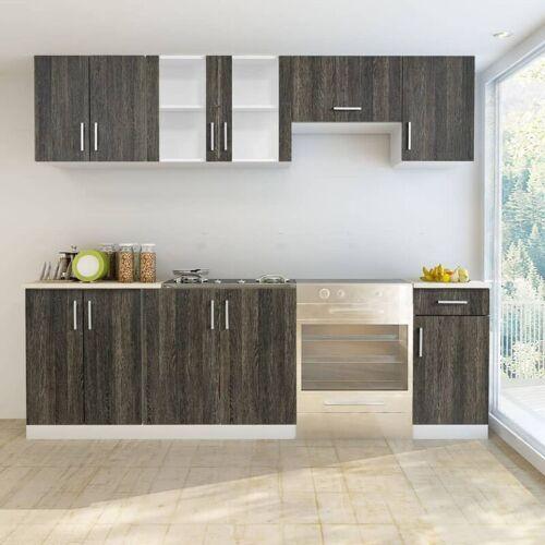VIDAXL Küchenzeile 7-tlg. Wenge-Look