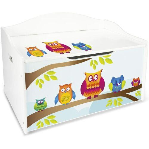 LEOMARK XL Weiße Kinderbank - Einhorn - Holz Sitzbank für Spielzeug