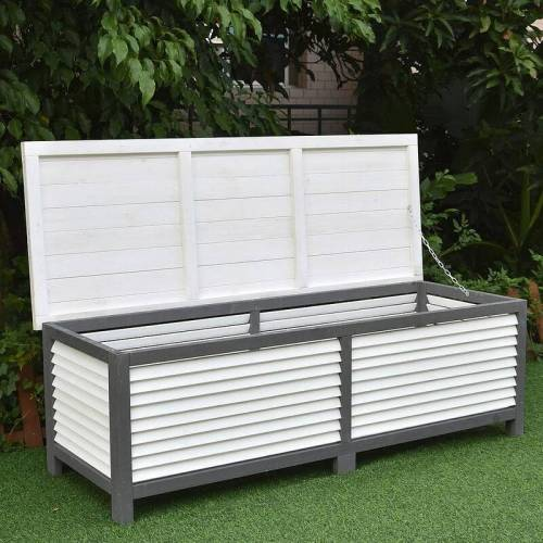 Mucola - Auflagenbox 140CM Kissenbox Holz Gartentruhe Gartenbox
