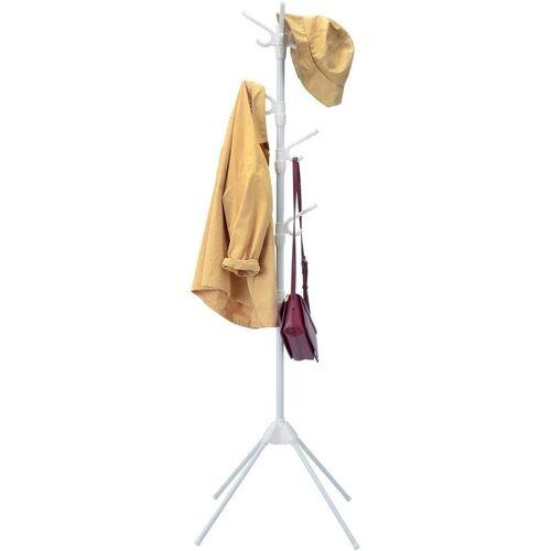 COSTWAY Garderobenstaender mit 8 Haken, Kleiderstaender Stahl, Garderobe fuer