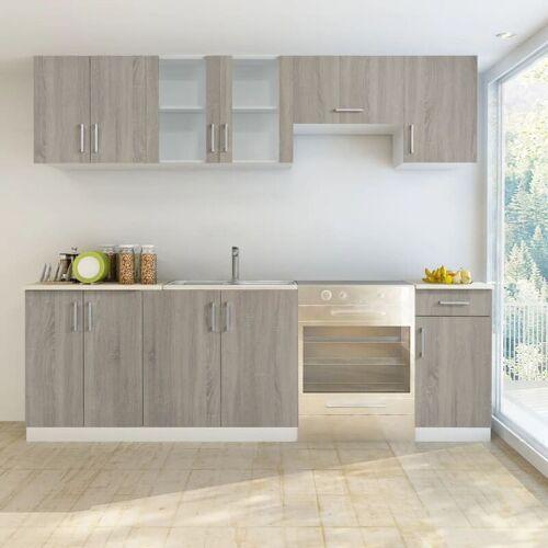 Vidaxl - Küchenzeile 7-tlg. Eichen-Look