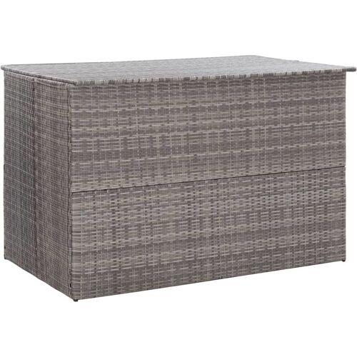 Zqyrlar - Gartenbox Grau 150×100×100 cm Poly Rattan