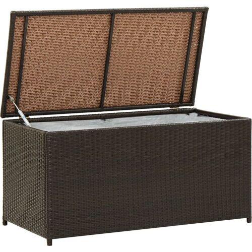 Zqyrlar - Gartenbox Poly Rattan 100×50×50 cm Braun