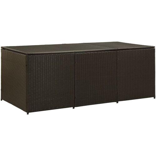 Zqyrlar - Gartenbox Poly Rattan 180×90×75 cm Braun