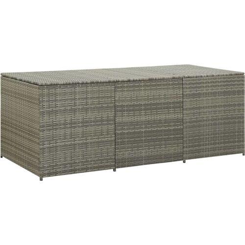 Zqyrlar - Gartenbox Poly Rattan 180×90×75 cm Grau