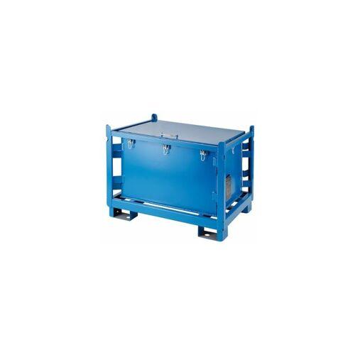 CERTEO Metallbehälter   HxBxT 91 x 100 x 120 cm   Blau   Certeo