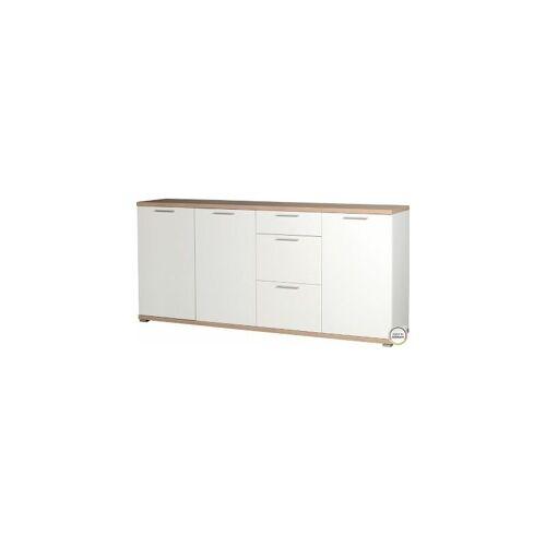 CERTEO Sideboard 'Minsk' HxBxT 880 x 1920 x 400 mm, weiß/sonoma-eiche Sideboard