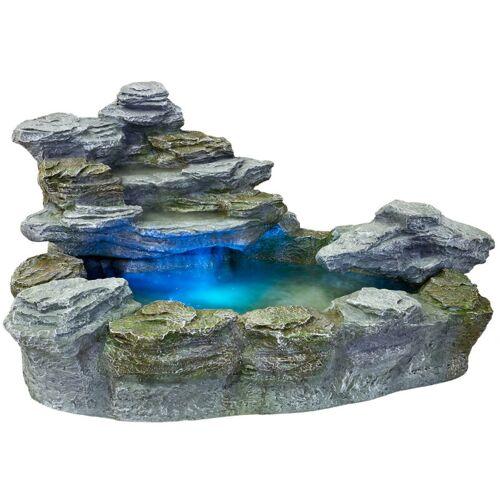 STILISTA ® Beleuchteter Gartenbrunnen 'OLYMP' Springbrunnen - Stilista