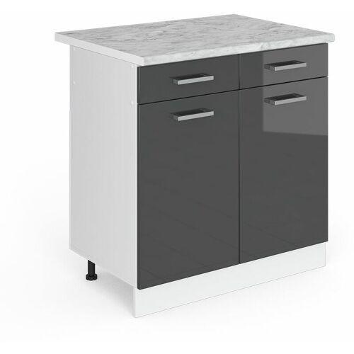 VICCO Schubunterschrank 80 cm Küchenzeile Unterschrank R-Line - Vicco