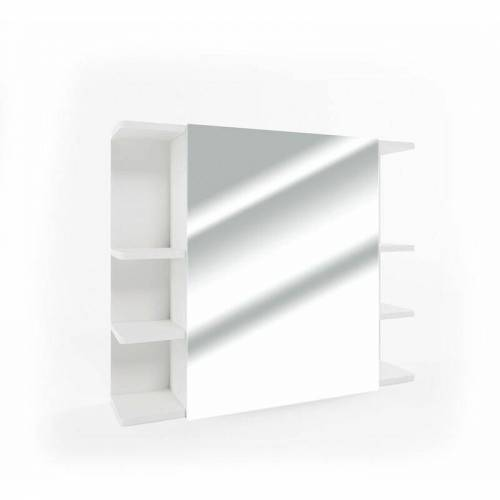 VICCO Spiegelschrank FYNN 80 x 64 cm Weiß - Spiegel Badspiegel Bad