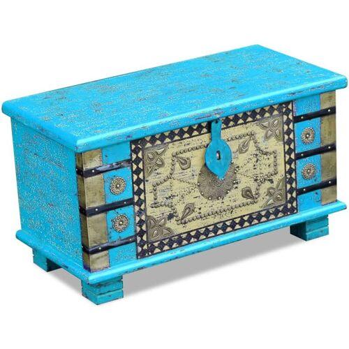 Vidaxl - Aufbewahrungstruhe Mangoholz 80x40x45cm Blau