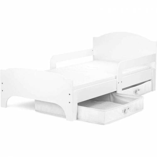LEOMARK SMART Kinderbett aus Holz - WHITE - Einzelbett mit Schubladen und