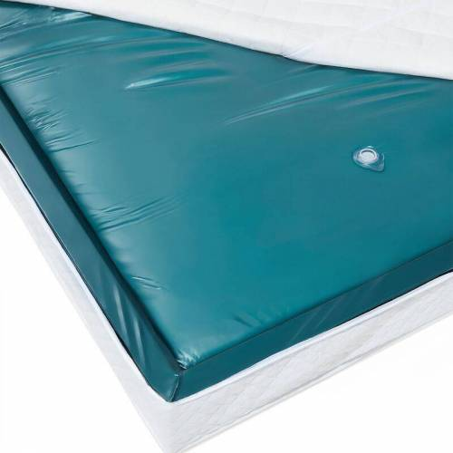 Beliani - Wasserbettmatratze Blau Vinyl 140 x 200 cm Mono System Leicht