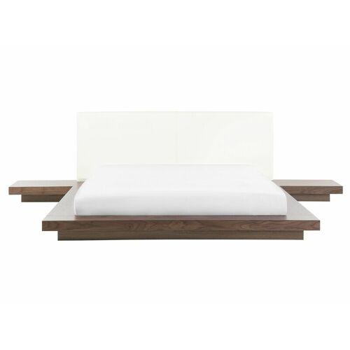 BELIANI Modernes Bett im Holzfarbton 160x200 cm Zen - BELIANI