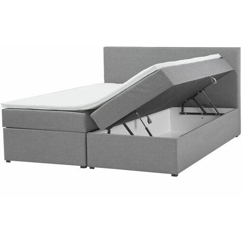Beliani - Doppelbett Grau 160 x 200 cm mit Bettkasten und