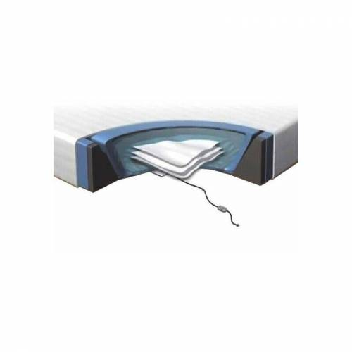 BELIANI Wasserbettmatratzen Set Schaumstoff Polyester Vinyl für Bett 180 x 200
