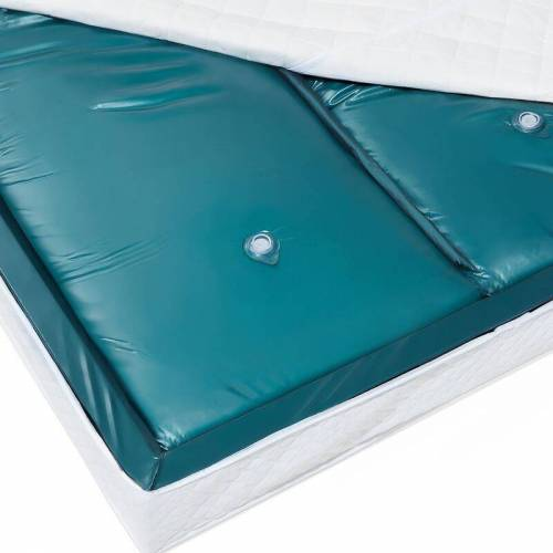 BELIANI Wasserbettmatratze Blau Vinyl 160 x 200 cm Dual System Leicht beruhigt