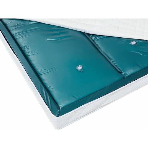 Beliani - Wasserbettmatratze Blau Vinyl 180 x 200 cm Dual System Voll