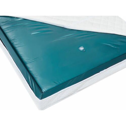 BELIANI Wasserbettmatratze Blau Vinyl 140 x 200 cm Mono System Leicht beruhigt