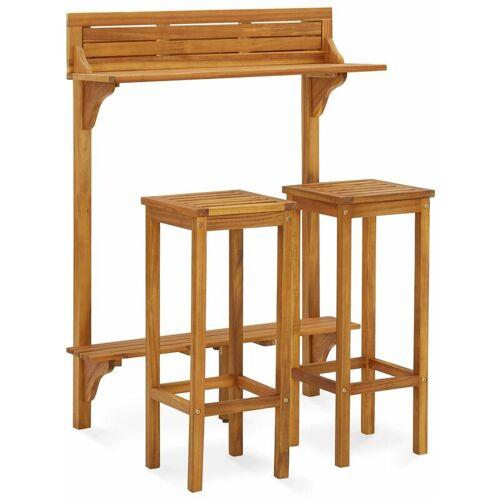 VIDAXL 3-tlg. Gartenmöbel-Set Massivholz Akazie