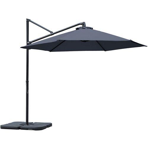 SEKEY 300cm Ampelschirm seitlicher Sonnenschirm kipp-, klapp- und 360°