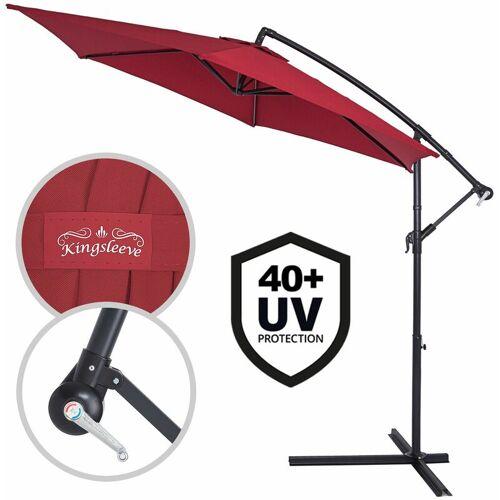 DEUBA Sonnenschirm Ampelschirm Alu Ø300cm UV-Schutz 40+ Marktschirm