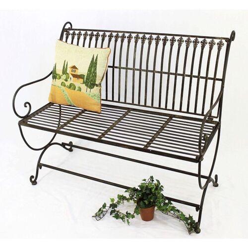 DANDIBO Gartenbank Metall Braun Wetterfest 2-Sitzer Finca 102 cm Bank Garten