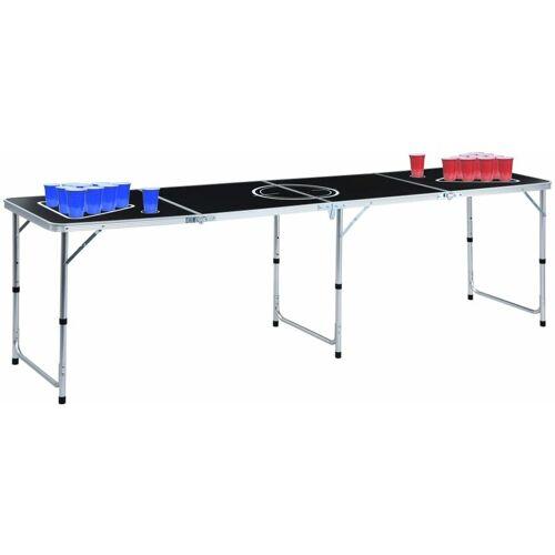 Youthup - Bier-Pong-Tisch mit Tassen und B?llen Klappbar 240 cm