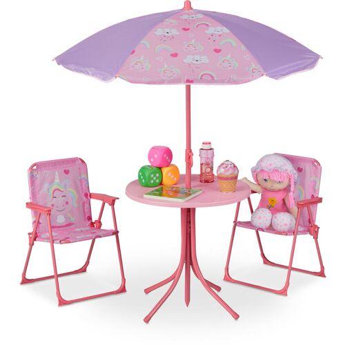 RELAXDAYS Camping Kindersitzgruppe, Kindersitzgarnitur m. Sonnenschirm,