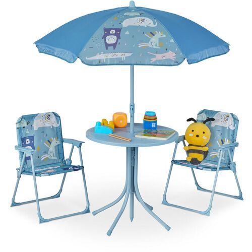 RELAXDAYS Camping Kindersitzgruppe, Kindersitzgarnitur mit Sonnenschirm,