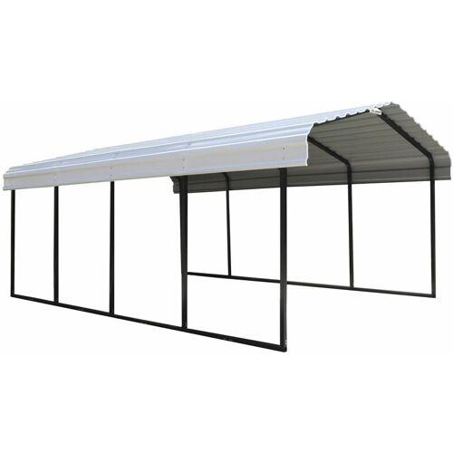 "ShelterLogic Carport ""Neapel"" schwarz/grau 22,57 m²"