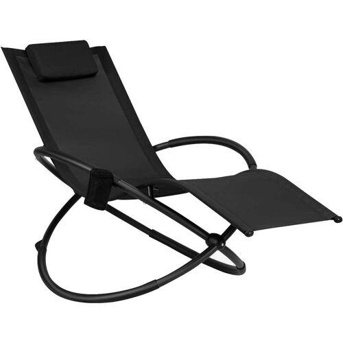 COSTWAY Schaukelliege Liegestuhl Outdoor, klappbare Relaxliege mit
