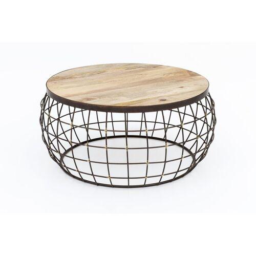 Index-living - Design Couchtisch Korbtisch Draht Korb Tisch