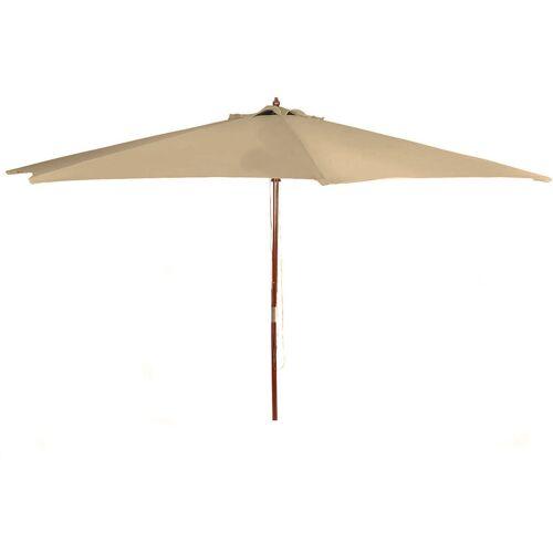 SPETEBO 2.04 (DPD) Holz Sonnenschirm 300cm mit Holzstamm - Farbe: Natur