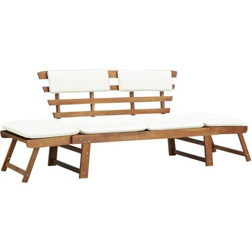 Zqyrlar - Gartenbank 2-in-1 mit Polstern 190 cm Massivholz Akazie