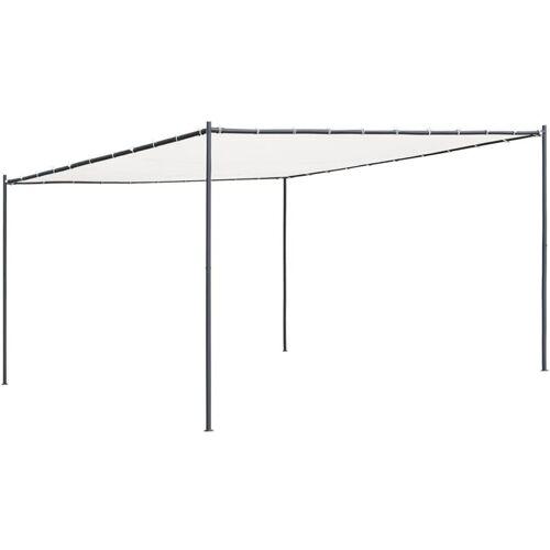YOUTHUP Gartenpavillon mit Flachdach 4x4x2,4 m Weiß 180 g/m2