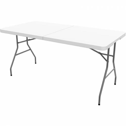 TODECO Klappbarer Tisch , Garten Klapptisch, 152 x 71.5 cm, Wei