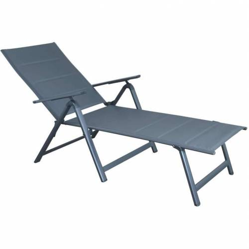 KYNAST EXKLUSIV Kynast Comfort Relax Klappliege Aluminum dunkelgrau /grau