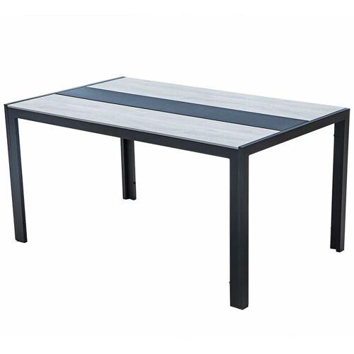 Leco Hochwertiger Gartentisch 'Chicago' aus Alu / Polywood und